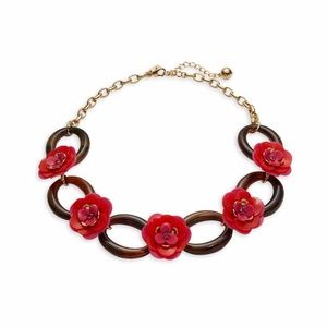 KATE SPADE Rosy Posies link necklace